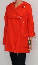 New Guess Jacket Raincoat Windbreaker Orange Pop, Size L, MSRP $180
