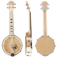 Kmise Banjo Ukulele 4 String Ukelele Concert 23 Inch Size Maple Wood