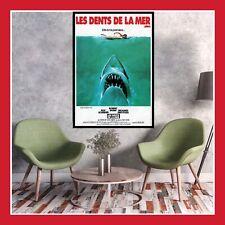 TOILE AFFICHE CINEMA MOVIE SORTIE FILM POSTER PHOTO LES DENTS DE LA MER JAWS DVD