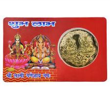 Laxmi Ganesh Yantra Lakshmi Ganesh Yantram With Gold Plated Coin Energized