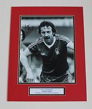Frank Clark Nottingham Forest HAND SIGNED Autograph Photo Mount Memorabilia COA