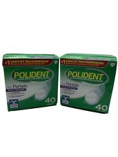 Polident Partials, Antibacterial Denture Cleanser - 40 Each (Lot of 2)