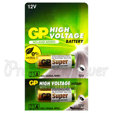 2 x GP 23A Alkaline Super batteries 12V MN21 A23 E23A V23GA 3LR50 LRV08 VR22