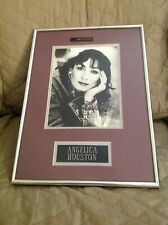Angelica Houston 8x10 B&W signed Autographed photo With Frame