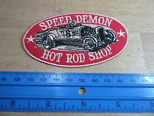 Patch Speed Demon customs HOT ROD SPEED SHOP Nose Art Rockabilly v8 US Car Race