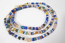 Vieja abalorios 94cm c5 old Venetian African Trade striped chevron beads afrozip