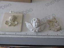 Lotto di 3 Angioletti in ceramica , angeli, putti, decorazione casa
