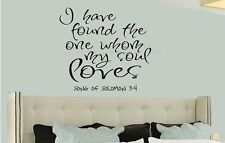 I HAVE FOUND THE ONE SONG OF SOLOMON Wall Decal Words Lettering Sticker Decor