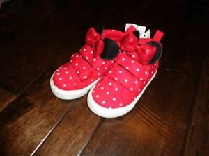 NWT BABY GAP NEW 24 US 7 MINIIE MOUSE SHOES  GIRLS