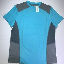 Orange Theory Mens Workout Shirt Large Ssc Block Crew Performance Gym Blue Nwt