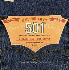 Levis 501 Jeans New Mens Size 32 x 32 STONEWASH Original Button Fly Levi's #509