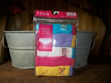 FADED GLORY GIRLS HIPSTER UNDERWEAR 5 PACK SIZE 8 WITH VARIOUS SAYINGS SCHOOL
