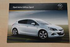 75798) Opel Astra Edition Sport Prospekt 08/2011