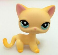Littlest Pet Shop LPS 339 Yellow Short Hair Cat Kitty 100 Authentic Blemished