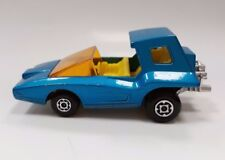 Vintage Old Toy Car Matchbox Superfast 1972 Soopa Coopa #37 Blue Cabrio