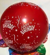 25 Mix Colour Happy Birthday Kids Celebrations Party Balloons Helium