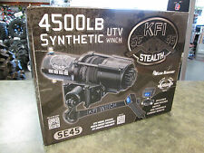 KFI 4500LB Stealth Winch All Black Synthetic Rope 4500LB Winch No Winch Mount