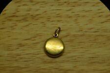 14K YELLOW GOLD ROUND LOCKET PENDANT CHARM -SMALL #X14-2469