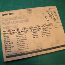 Caterpillar CAT GP Series Lift Truck Forklift Owner Operator Maintenance Manual