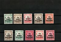 GERMANY COLONIES TOGO British-Bes.Mi .1-9.Pr..MH SIGNED