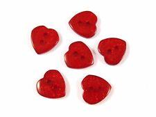 13mm Glitter Heart Buttons - 10 Colours & Mixed - Card Embellishments Scrapbooks