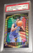 2015-16 Panini Select KARL-ANTHONY TOWNS #136 Tri-Color Prizm RC PSA 10 Gem Mint