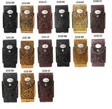 Western Phone Holster 6.3''x3.45'' Universal Magnetic Closure Leather Pouch