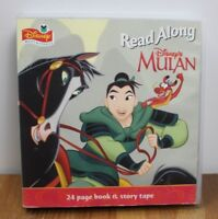 DISNEY MULAN READ ALONG BOOK & STORY TAPE CASSETTE COMPLETE 1998 Vintage KIDS