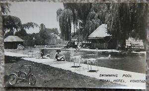 1949 Swimming Pool Royal Hotel Kokstad Unused Photographic Postcard South Africa