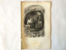 GRAVURE LE GRENIER 1851 PAUQUET BERANGER EN TRES BON ETAT