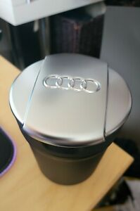 AUDI Cup Chrome Lid Ashtray Cup Holder  A3 A4 A5 A6 A7 Q3 Q5 RS3 8V S3 S5 RS5