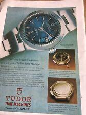 V1c Ephemera 1974 Picture Advert Rolex Tudor Time Machines