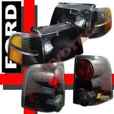 02-05 Ford Explorer 4-Door Black Headlights Corner Signal Lights + Tail Lights