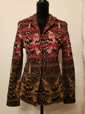 Aldomartins Anthropologie Wool-Blend Fitted Cardigan Sweater Size 10 Barcelona