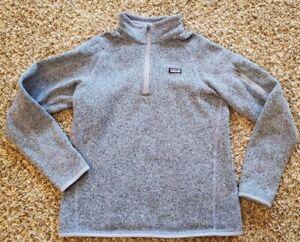 Patagonia Purple Better Sweater 1/4 Zip Womens (S), Girls (XXL) EUC