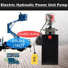 12V Double Acting Hydraulic Pump for Dump Trailer 10 Quart Metal Reservoir