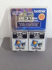 NEW 2pk GENUINE Brother LC31 Ink Cartridge LC31BK  SEALED