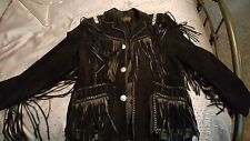 Scully Vintage Suede Fringed Beaded Jacket Size 42
