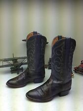 VINTAGE USA WRANGLER GRAY LIZARD LEATHER WESTERN ENGINEER TRAIL BOSS BOOTS 9D