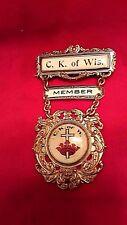Catholic Knights WI Whitehead & Hoag Member Pin Cross & Crown Estate Sale Find