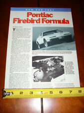 1988 PONTIAC FIREBIRD FORMULA - ORIGINAL ARTICLE