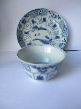 Ca Mau  Chinese Shipwreck c1725, Tea Bowl & Saucer ,Trellis Pattern,PERFECT