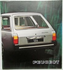 1975 Peugeot 504 Station Wagon Sales Brochure - French Text