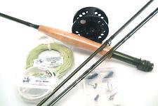 Complete Fly Fishing Starter Set - 5 Weight - Balanced Rod, Reel, Leader, Tip.