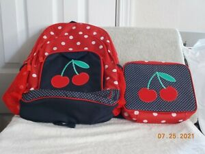 GYMBOREE CHERRY BACKPACK & LUNCH BOX NEW