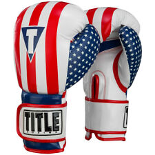 Title Boxing Infused Foam Combat USA Hook and Loop Training Gloves