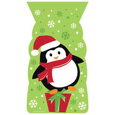 20 x Christmas Penguin Loot Bags Party treat favour bags w/ twist ties FREE P&P