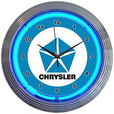 new neon clock Chrysler Pentastar Plymouth sign Hemi Powered Mopar Muscle lamp