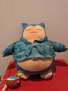 "Build A Bear Snorlax Large 16"" Pokemon Plush w/Sound, Pajama Outfit"