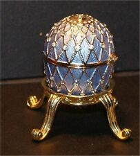 Jeweled Enameled Collectible Replica Lavender Egg Rhinestone Approx 2.5 In 00004000 Ches